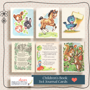 { project life printables - children's books journaling cards }